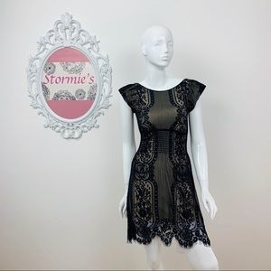 Pinky   Black Lace Dress